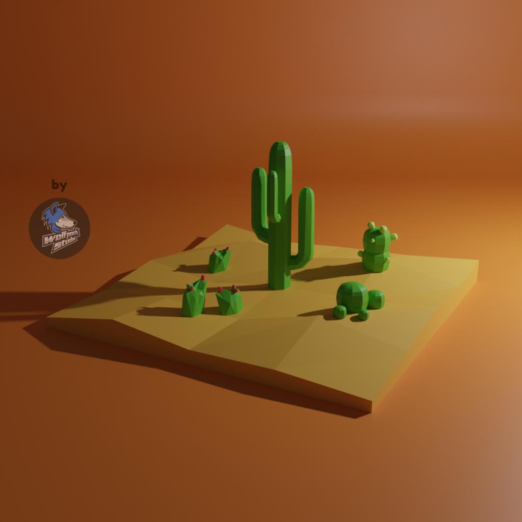 Cactus scenery desert