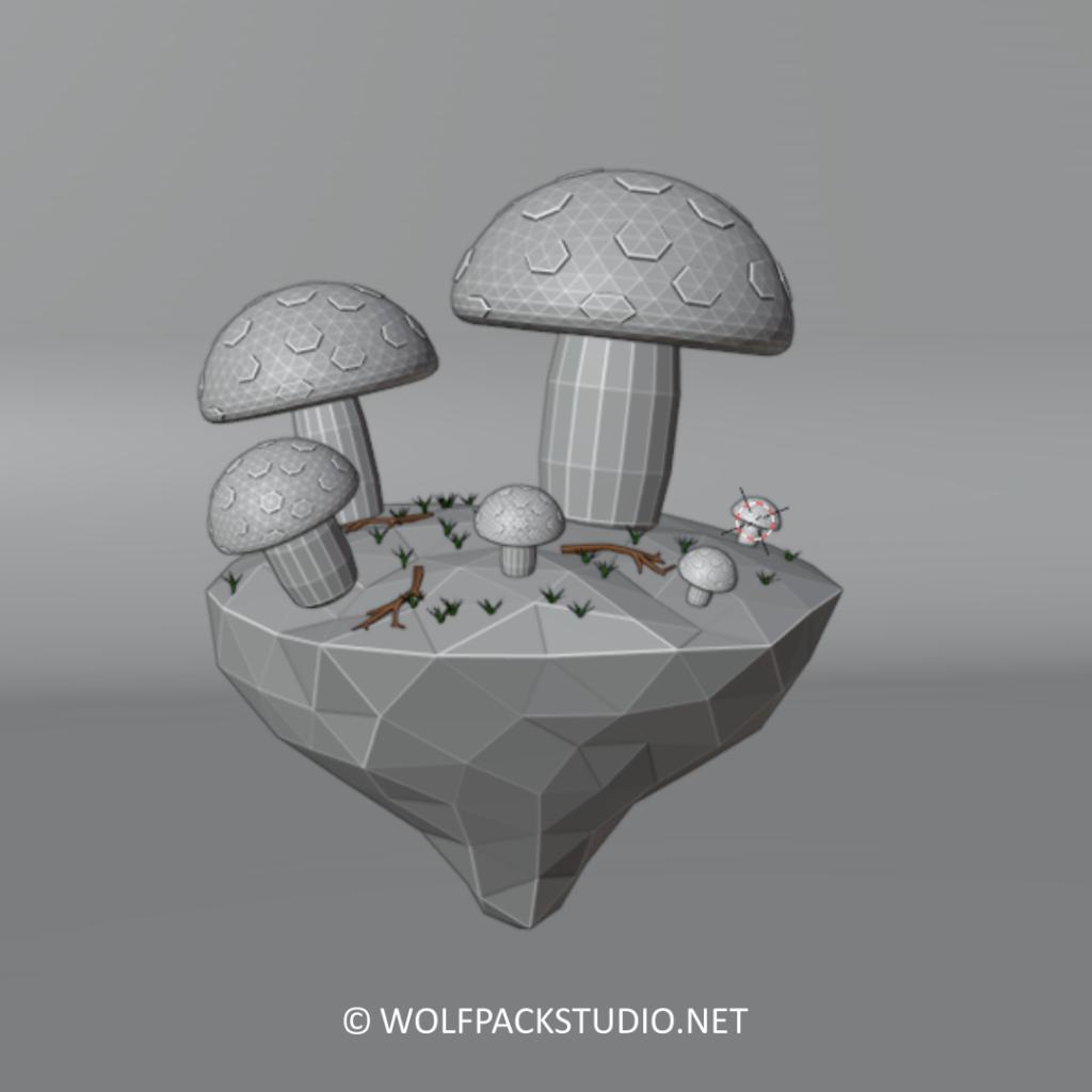 Glowing Mushrooms sketch