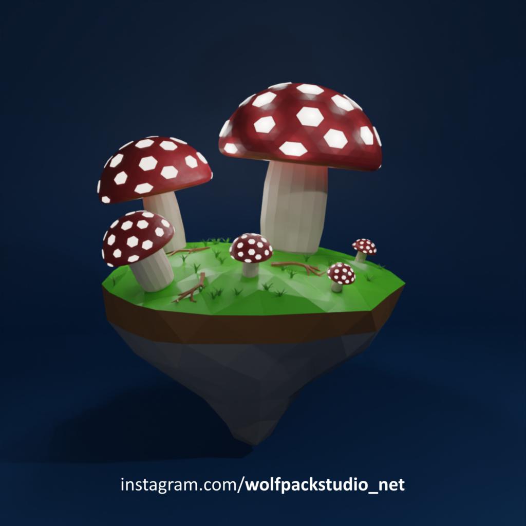 Glowing Mushrooms night
